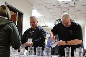 Water Tasting with Les Sigette and NDRWSA Past President Keith N Image